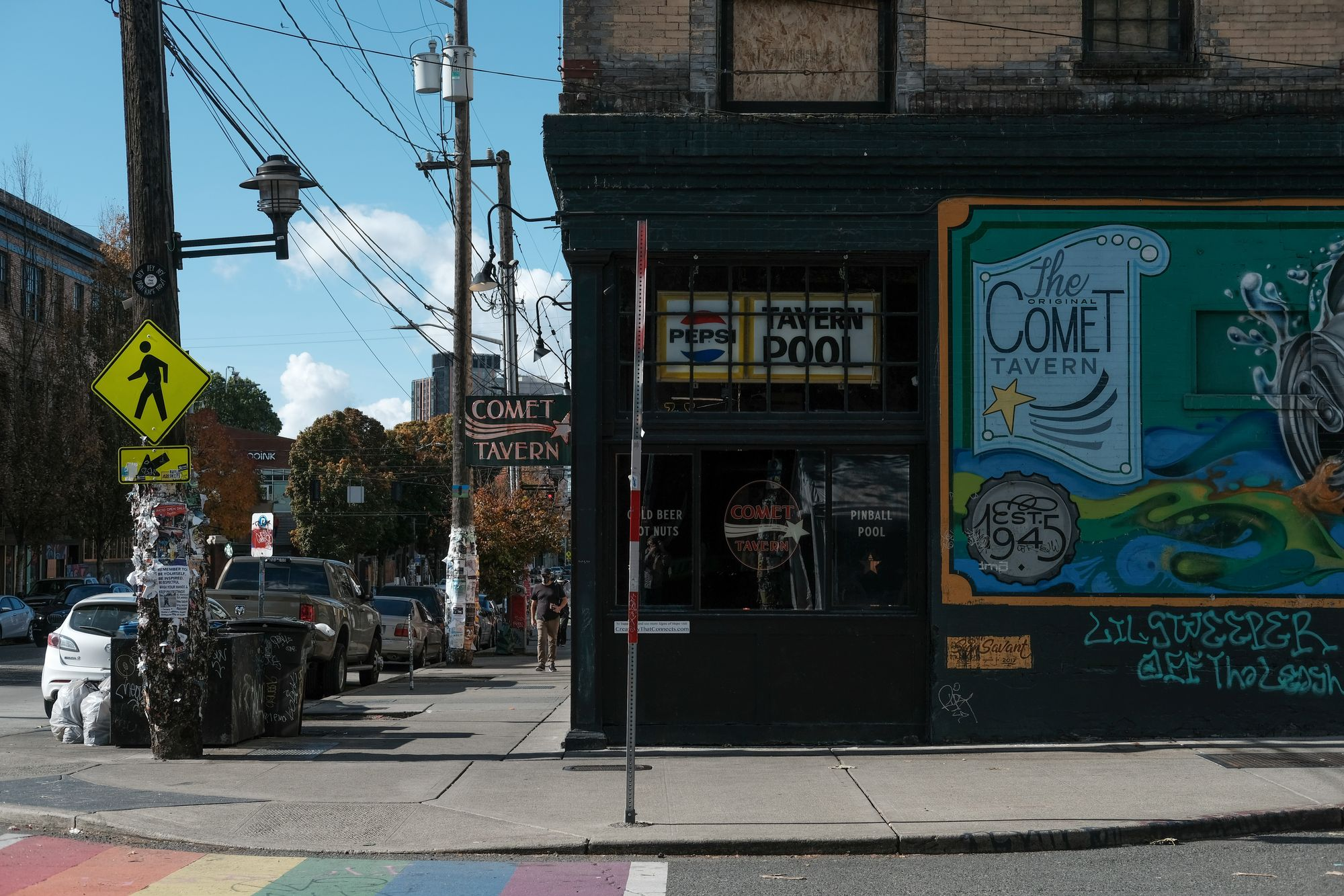 Comet Tavern, Capitol Hill, Seattle, 2020.
