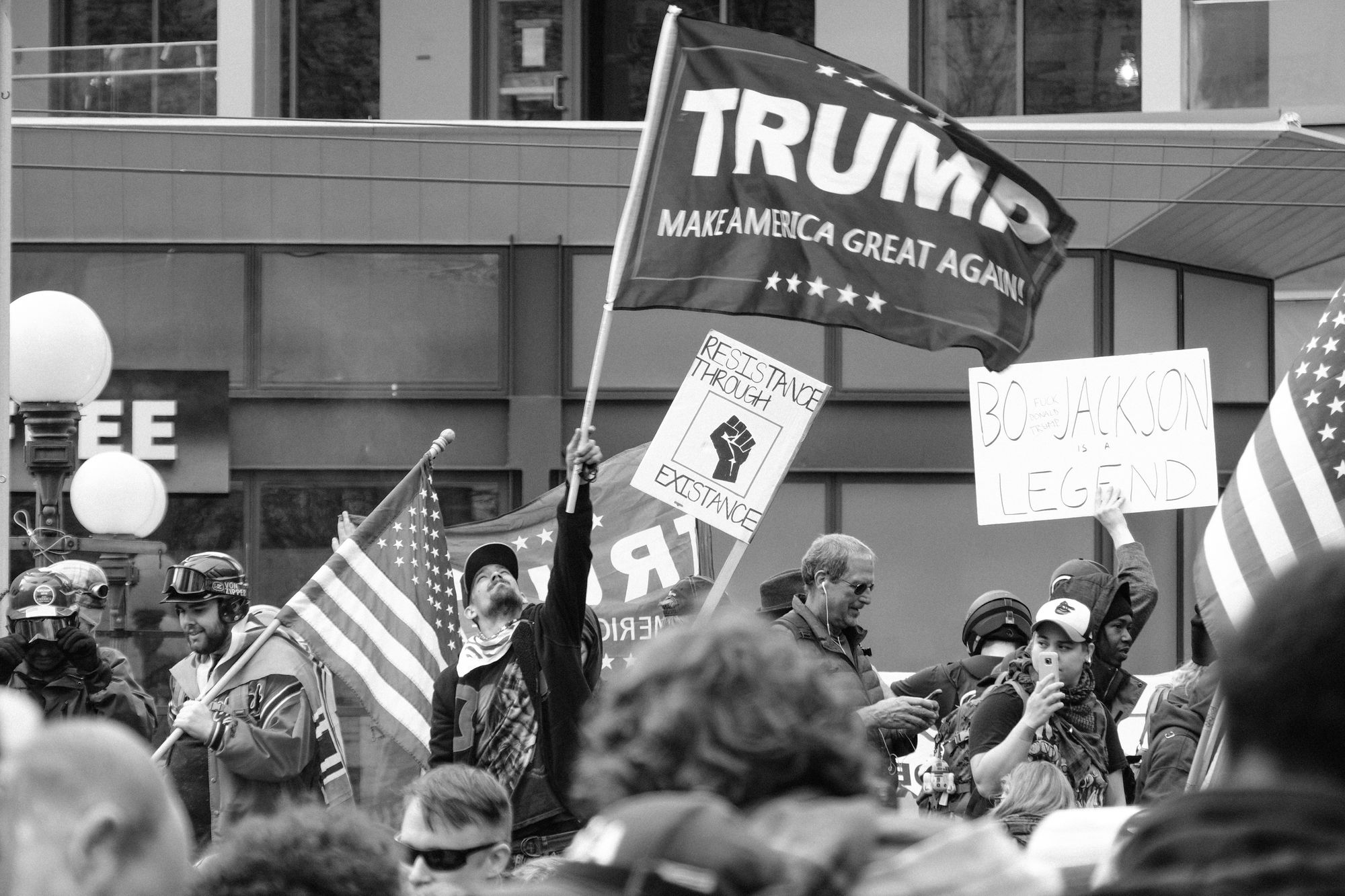 Trump rally Seattle 2017