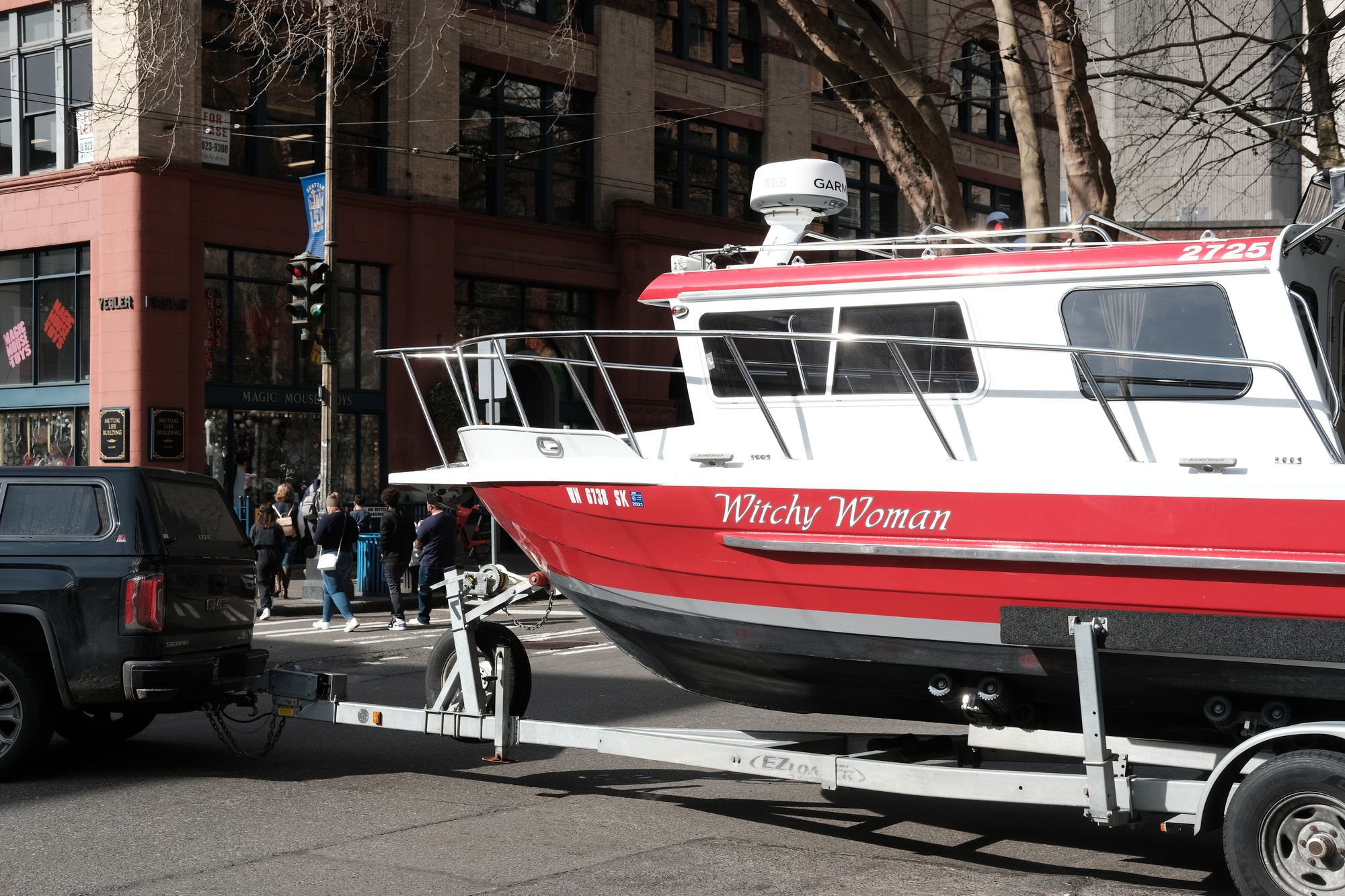 Boat Pioneer Square Seattle March 2021